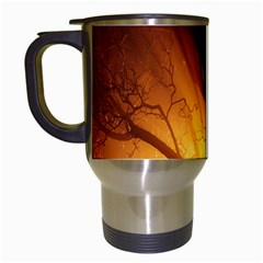Rays Of Light Tree In Fog At Night Travel Mugs (white)