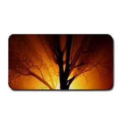 Rays Of Light Tree In Fog At Night Medium Bar Mats