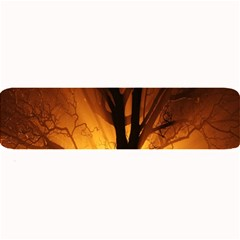 Rays Of Light Tree In Fog At Night Large Bar Mats