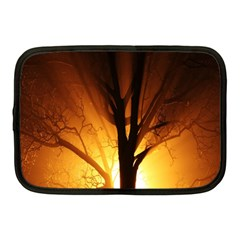 Rays Of Light Tree In Fog At Night Netbook Case (medium)