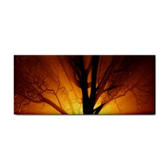Rays Of Light Tree In Fog At Night Cosmetic Storage Cases