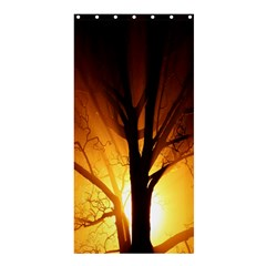 Rays Of Light Tree In Fog At Night Shower Curtain 36  X 72  (stall)