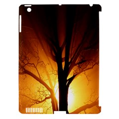 Rays Of Light Tree In Fog At Night Apple Ipad 3/4 Hardshell Case (compatible With Smart Cover)