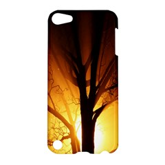 Rays Of Light Tree In Fog At Night Apple Ipod Touch 5 Hardshell Case