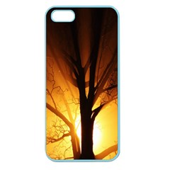 Rays Of Light Tree In Fog At Night Apple Seamless Iphone 5 Case (color)