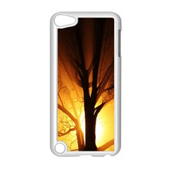 Rays Of Light Tree In Fog At Night Apple iPod Touch 5 Case (White)