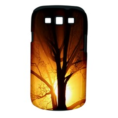 Rays Of Light Tree In Fog At Night Samsung Galaxy S Iii Classic Hardshell Case (pc+silicone)