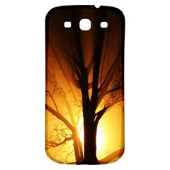 Rays Of Light Tree In Fog At Night Samsung Galaxy S3 S Iii Classic Hardshell Back Case