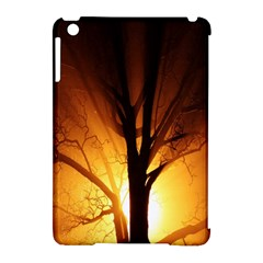 Rays Of Light Tree In Fog At Night Apple Ipad Mini Hardshell Case (compatible With Smart Cover)