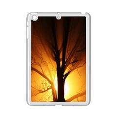 Rays Of Light Tree In Fog At Night Ipad Mini 2 Enamel Coated Cases