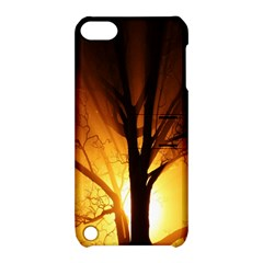 Rays Of Light Tree In Fog At Night Apple iPod Touch 5 Hardshell Case with Stand