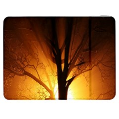 Rays Of Light Tree In Fog At Night Samsung Galaxy Tab 7  P1000 Flip Case