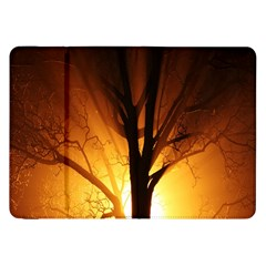 Rays Of Light Tree In Fog At Night Samsung Galaxy Tab 8.9  P7300 Flip Case