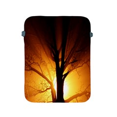 Rays Of Light Tree In Fog At Night Apple Ipad 2/3/4 Protective Soft Cases