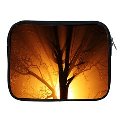 Rays Of Light Tree In Fog At Night Apple Ipad 2/3/4 Zipper Cases