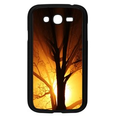Rays Of Light Tree In Fog At Night Samsung Galaxy Grand DUOS I9082 Case (Black)