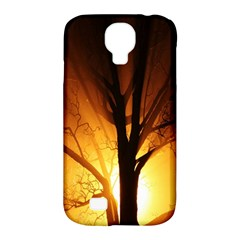 Rays Of Light Tree In Fog At Night Samsung Galaxy S4 Classic Hardshell Case (PC+Silicone)