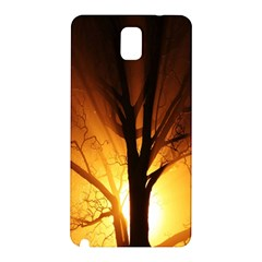 Rays Of Light Tree In Fog At Night Samsung Galaxy Note 3 N9005 Hardshell Back Case