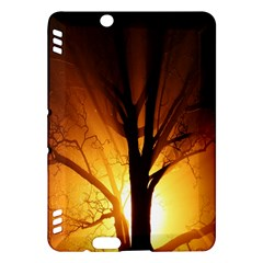 Rays Of Light Tree In Fog At Night Kindle Fire Hdx Hardshell Case