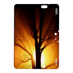 Rays Of Light Tree In Fog At Night Kindle Fire Hdx 8 9  Hardshell Case