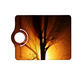 Rays Of Light Tree In Fog At Night Kindle Fire Hd (2013) Flip 360 Case