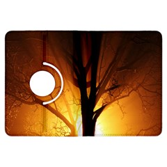 Rays Of Light Tree In Fog At Night Kindle Fire Hdx Flip 360 Case