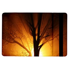 Rays Of Light Tree In Fog At Night Ipad Air Flip