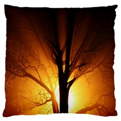 Rays Of Light Tree In Fog At Night Standard Flano Cushion Case (one Side)