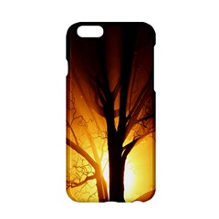 Rays Of Light Tree In Fog At Night Apple iPhone 6/6S Hardshell Case