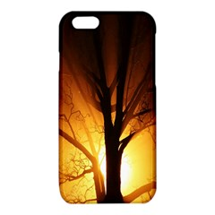 Rays Of Light Tree In Fog At Night iPhone 6/6S TPU Case