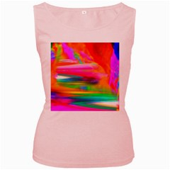 Abstract Illustration Nameless Fantasy Women s Pink Tank Top