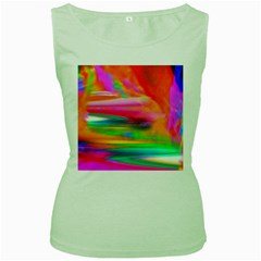 Abstract Illustration Nameless Fantasy Women s Green Tank Top