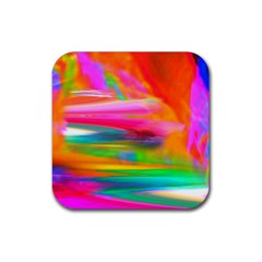 Abstract Illustration Nameless Fantasy Rubber Square Coaster (4 Pack)