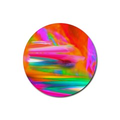 Abstract Illustration Nameless Fantasy Rubber Round Coaster (4 pack)