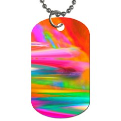 Abstract Illustration Nameless Fantasy Dog Tag (one Side)