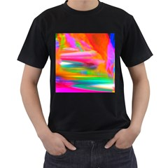Abstract Illustration Nameless Fantasy Men s T-Shirt (Black) (Two Sided)