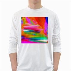 Abstract Illustration Nameless Fantasy White Long Sleeve T Shirts