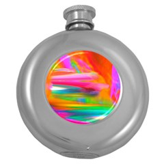 Abstract Illustration Nameless Fantasy Round Hip Flask (5 Oz)