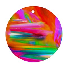 Abstract Illustration Nameless Fantasy Round Ornament (two Sides)