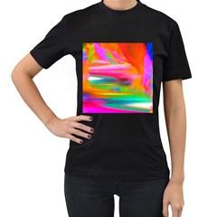 Abstract Illustration Nameless Fantasy Women s T Shirt (black)