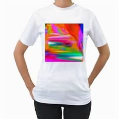 Abstract Illustration Nameless Fantasy Women s T Shirt (white)
