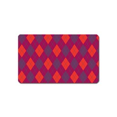 Plaid pattern Magnet (Name Card)