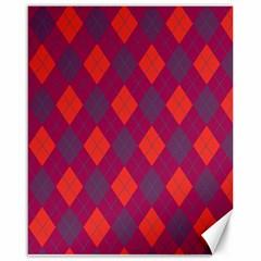 Plaid pattern Canvas 16  x 20