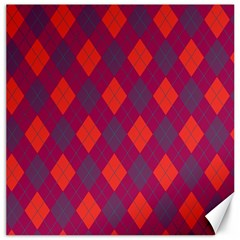 Plaid pattern Canvas 20  x 20
