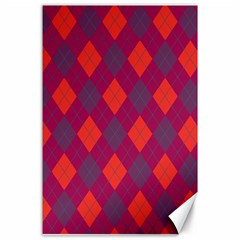 Plaid pattern Canvas 24  x 36