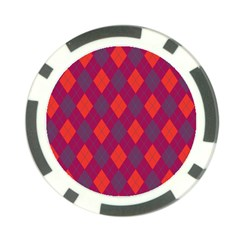 Plaid pattern Poker Chip Card Guard