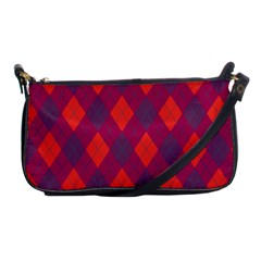 Plaid pattern Shoulder Clutch Bags