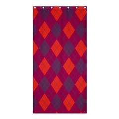 Plaid pattern Shower Curtain 36  x 72  (Stall)
