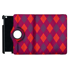 Plaid pattern Apple iPad 2 Flip 360 Case
