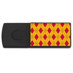 Plaid pattern USB Flash Drive Rectangular (2 GB)